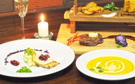 6chodové valentýnské degustační menu pro 2 osoby