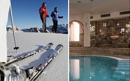 Zimní dovolená v italských Alpách pro dva s polopenzí a wellness