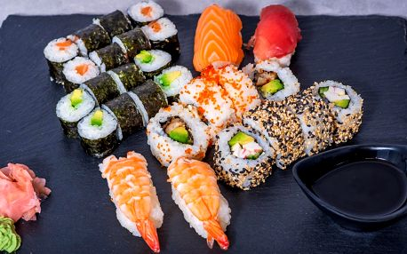 Sushi sety včetně rozvozu po Praze: 24 - 36 ks