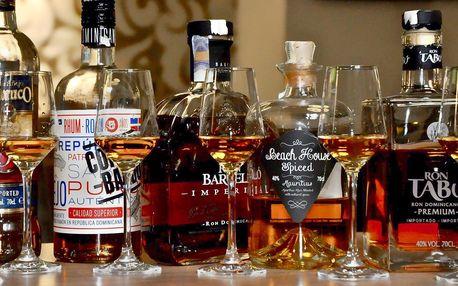 Rumová degustace: 5 druhů vč. nejlepšího rumu světa