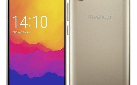 Prestigio Wize Q3 Dual SIM zlatý (PSP3471DUOGOLD)
