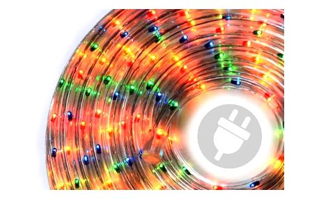 Nexos 1037 Světelný kabel 20 m - barevný, 720 minižárovek