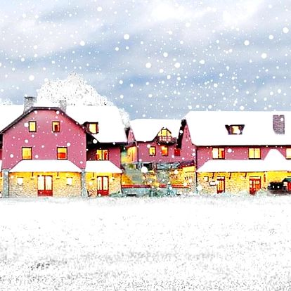 Zimní víkend na Vysočině v penzionu se statkem