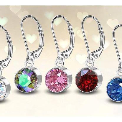 Ocelové náušnice s krystaly Swarovski®