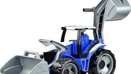 LENA Traktor se lžící a bagrem, modro šedý