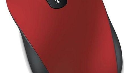 Microsoft Bluetooth Mobile Mouse 3600 černá/červená / optická / 3 tlačítka / 1000dpi (PN7-00014)