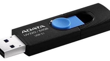 ADATA UV320 64GB černý/modrý (AUV320-64G-RBKBL)