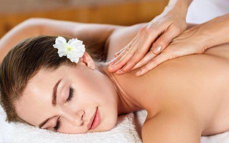 45 nebo 60 minut relaxační masáže dle výběru
