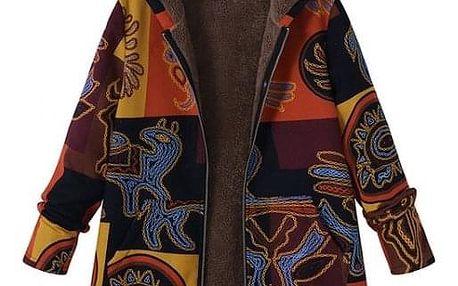 Kabátová mikina Karissa - Žlutá-S - dodání do 2 dnů