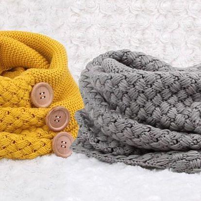 Hřejivý pletený nákrčník do chladných dnů