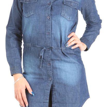 Dámské jeansové šaty Bershka