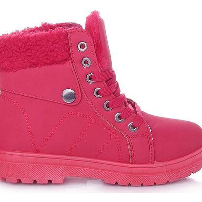 Cabin Dámské zimní boty červené RA1010R Velikost: 37 (24 cm)