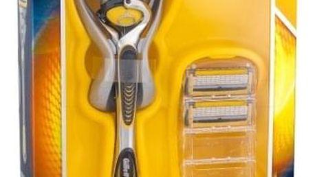 Gillette Fusion Proshield dárková kazeta pro muže holicí strojek s jednou hlavicí 1 ks + náhradní hlavice 2 ks