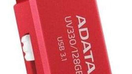 ADATA UV330, 32 GB, červený (AUV330-32G-RRD)