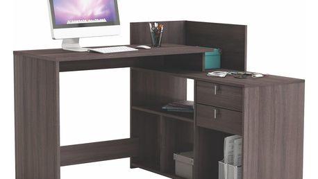VISSTA, univerzální rohový psací stůl, dub vulcano