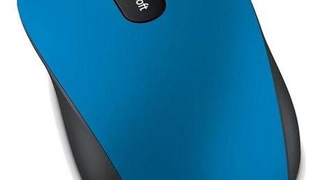 Microsoft Bluetooth Mobile Mouse 3600 černá/modrá / optická / 3 tlačítka / 1000dpi (PN7-00024)