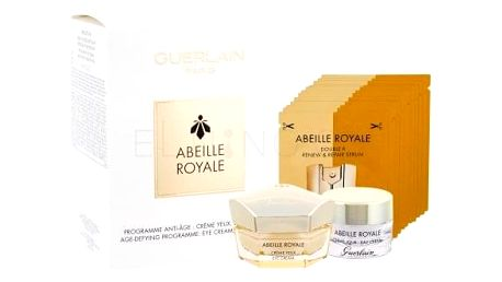 Guerlain Abeille Royale dárková kazeta proti vráskám pro ženy péče o oční okolí 15 ml + denní pleťová péče 7 ml + pleťové sérum 14 x 0,6 ml