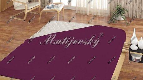 Matějovský prostěradlo Jersey fialová, 200 x 220 cm