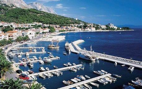 Chorvatsko - Podgora na 8 dní, večeře nebo bez stravy s dopravou vlastní
