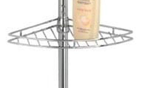 Teleskopická koupelnová rohová police PREA - 4 úrovně, WENKO