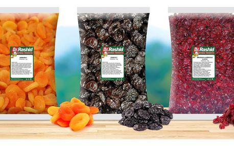 Balíčky sušeného ovoce plného vitaminů a chutí