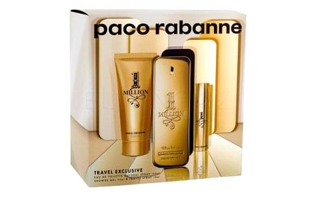 Paco Rabanne 1 Million dárková kazeta pro muže toaletní voda 100 ml + sprchový gel 75 ml + toaletní voda 10 ml