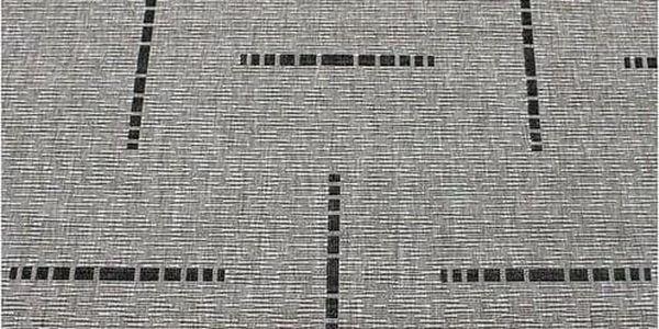 Spoltex Kusový koberec Floorlux silver/black 20008, 80 x 150 cm2