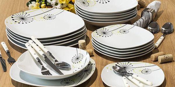 VANESA Jídelní souprava talířů z porcelánu 18dílná, MÄSER5