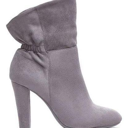 Dámské tmavě šedé kotníkové boty Fontane 1088