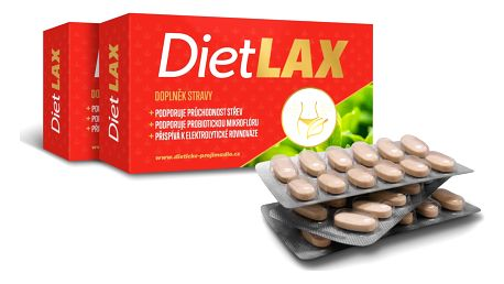 Doplněk stravy DietLAX 108 tablet pro zdravé a rychlé trávení