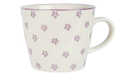 IB LAURSEN Hrnek Casablanca Bloom Malva, růžová barva, bílá barva, keramika