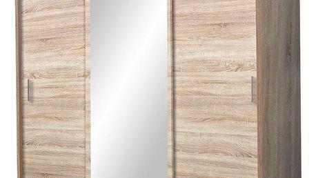 Šatní skříň MOONZA sonoma