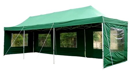 Garthen PROFI 404 Zahradní skládací párty stan - zelený 3 x 9 m