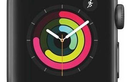 Apple Watch Series 3 GPS 38mm pouzdro z vesmírně šedého hliníku - černý sportovní řemínek (MTF02CN/A)
