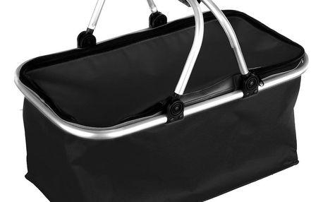 Nákupní skládací košík černý