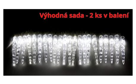 Marimex | Světelné mini rampouchy 40 LED - studená bílá - sada 2 ks | 19900058