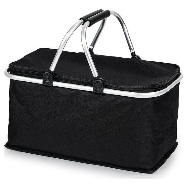 Nákupní skládací košík černý3