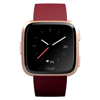 Fitbit Versa (NFC) - Merlot Band / Rose Gold Case (FB505RGRD-EU)