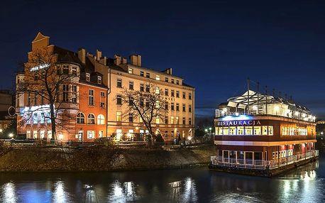 Hotel na ostrově se snídaní v centru Vratislavi