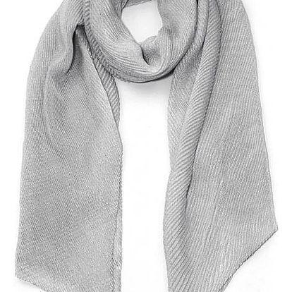 Dámský šedý šátek Susi 009