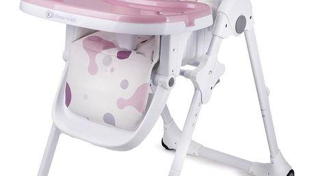 KINDERKRAFT Jídelní židlička Fini Yummy – Pink