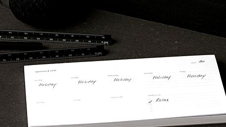 MONOGRAPH Trhací týdenní plánovač Monograph - 120 stran, bílá barva, papír