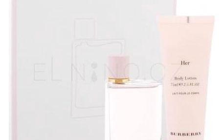 Burberry Her dárková kazeta pro ženy parfémovaná voda 50 ml + tělové mléko 75 ml