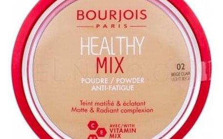 BOURJOIS Paris Healthy Mix Anti-Fatigue 11 g rozjasňující matující pudr pro ženy 02 Light Beige
