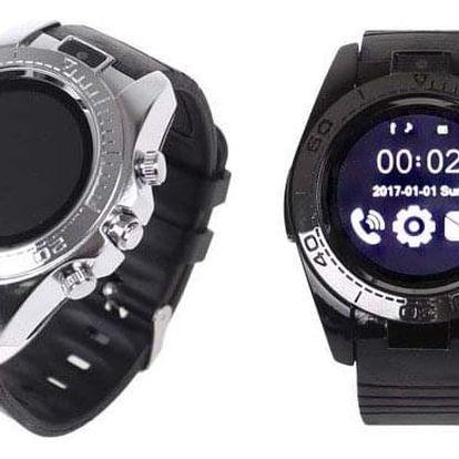 Dotykové chytré hodinky s bluetooth a kulatým displejem