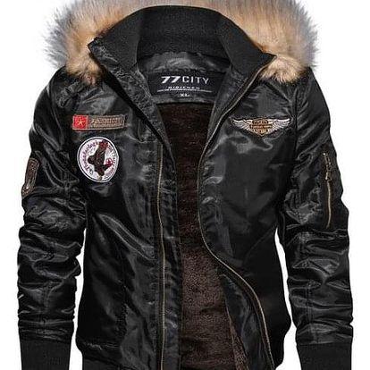 Pánská bunda Mike - Černá-XL - dodání do 2 dnů