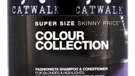 Tigi Catwalk Fashionista Violet dárková kazeta pro ženy šampon 750 ml + kondicionér 750 ml