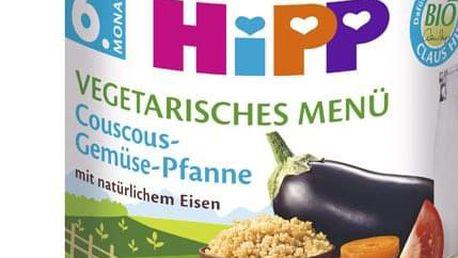 6x HIPP BIO Bezlepkový kuskus se zeleninou - vegetariánské menu, 190 g - zeleninový příkrm