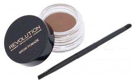 Makeup Revolution London Brow Pomade 2,5 g pomáda na obočí pro ženy Soft Brown