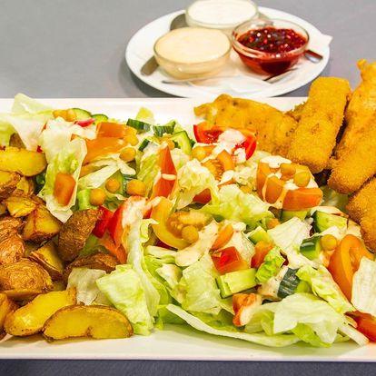 Masovo-sýrový talíř a opečené brambory pro 3 jedlíky